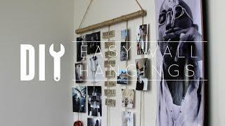 DIY Cheap Easy Wall Hangings
