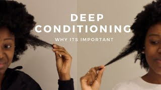 How To Deep Condition Natural Hair | Benefits on Damaged 4A / 4B / 4C