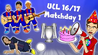7-0! 5-0! DAY 1! Champions League 16/17 Highlights! (Barcelona vs Celtic, PSG vs Arsenal 1-1)