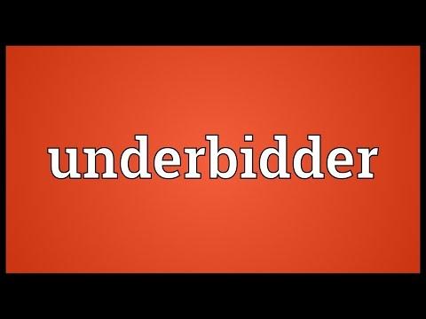 Header of underbidder