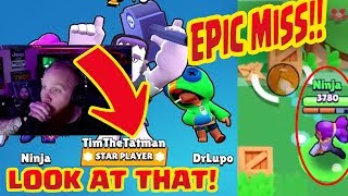 TIMTHETATMAN carries NINJA & DR LUPO - Brawl Stars - Funny Moments