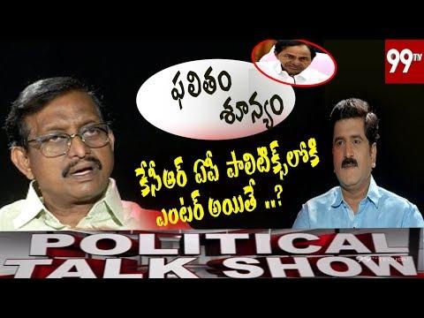 Political Talk Show with Former RTI Commissioner Vijay Babu | Kcr Effect On AP Politics | 99 TV