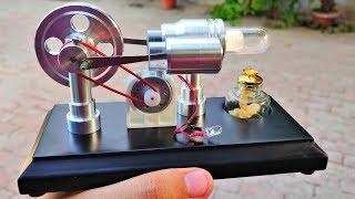 Wow! 5v DC Motor to DC Generator using Stirling Engine   External Combustion Engine Kit