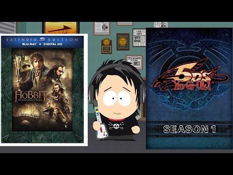 Yugioh 5ds Season 1 Dvd & The Hobbit: Desolation Of Smaug Extended Edition Blu Ray Unboxings video