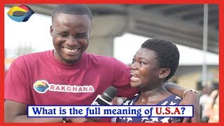 What is the full meaning of USA? | Street Quiz | Funny Videos | Funny African Videos |