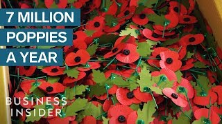 Army Veterans Make 7 Million Poppies Every Year In This Factory