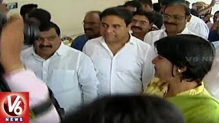 Minister KTR Inaugurates AC Bus Shelter At Shilparamam | Hyderabad