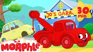 Morphle The Tow Truck! Tow Truck Video For Kids. (+Ambulance, police car, fire truck, garbage truck)