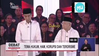 Moment Ma'ruf Amin Meninggalkan Permainan (AFK) saat debat capres 2019