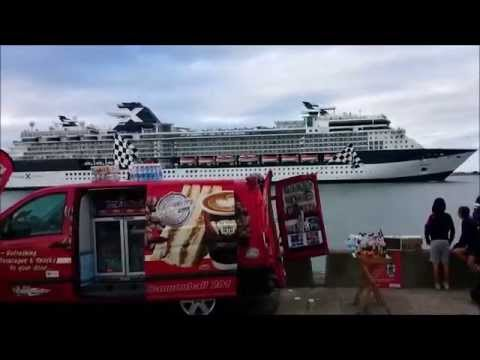 Huge Cruiseships that come into Dublin Port