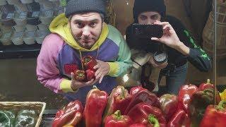 Stealing Bell Peppers in Santa Cruz