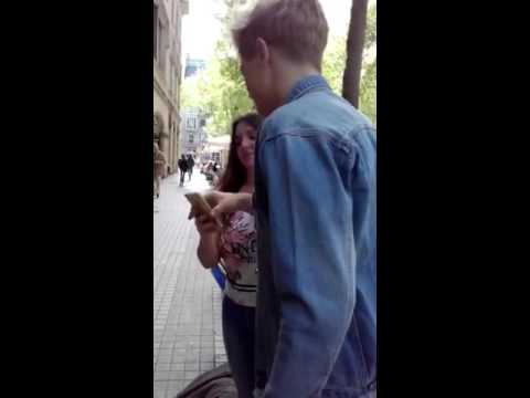 Benjamin outside the radio of Barcelona (15/04/16)