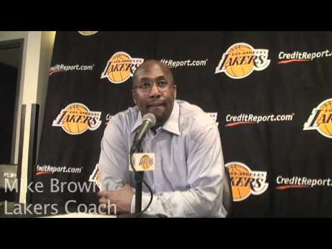 Lakers guard Derek Fisher and Coach Mike Brown on Lamar Odom