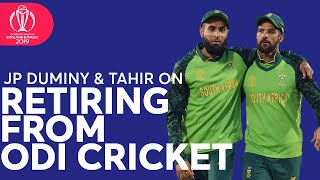 JP Duminy and Imran Tahir on Retiring from ODI Cricket | ICC Cricket World Cup 2019