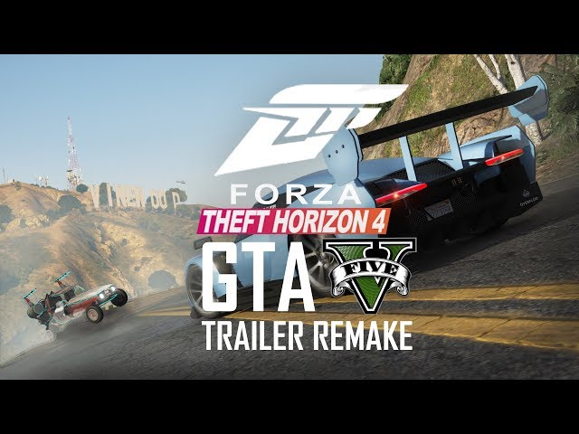 Forza Horizon 4 Trailer Recreated in GTA 5! Forza Theft Auto 4