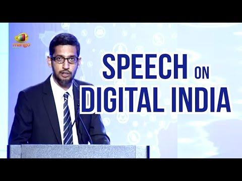 Google CEO Sundar Pichai Speech On Digital India   PM Narendra Modi US Tour   Mango News
