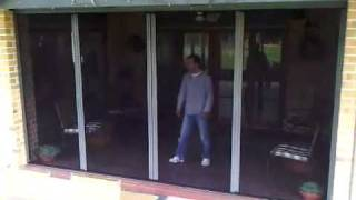 insect screens - Retractable flyscreen FlyDoor demonstration