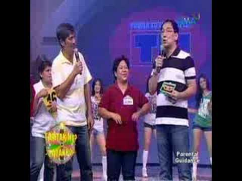 Vic & Joey answer to wowowee contestant thanking Eat Bulaga
