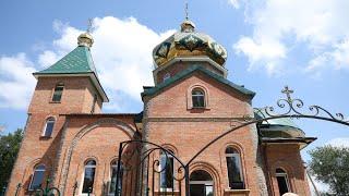 Освящение храма в честь святой великомученицы Варвары в с. Варваровка Карловского района