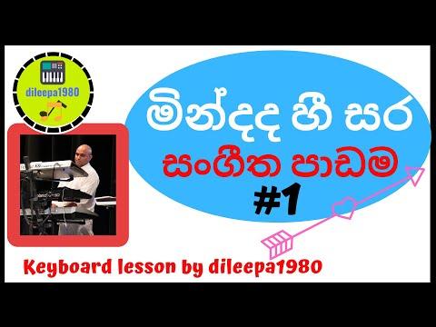 Learn to Play Mindada Hee Sara Organ Lesson by Dileepa Part 1