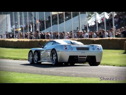 Covini C6W - 6 Wheeled Supercar on track at Goodwood Festival of Speed