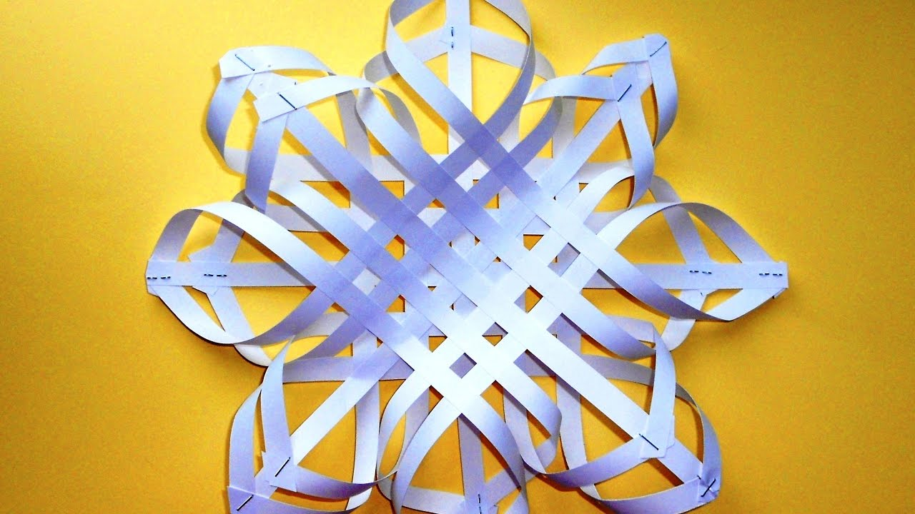 Снежинки из бумаги 3д своими руками видео