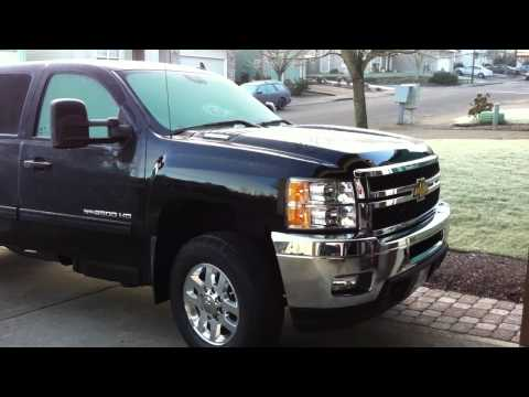 Chevy 2500HD Duramax cold start (12 degrees F)