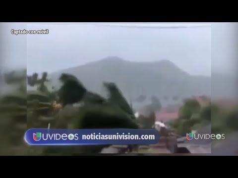 Impresionantes imágenes del tifón Haiyan a su paso por Filipinas -- Noticiero Univisión