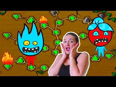 ПРИКЛЮЧЕНИЯ ОГОНЬ и ВОДА в лесном храме #3 Игровой мультик про храм леса Видео для детей Мультик