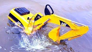 СПЕЦТЕХНИКА  ныряет в воду - Много БОЛЬШИХ машинок   BRUDER для детей с Ник Турбо