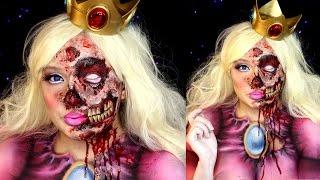 Zombie Princess Peach Halloween Makeup Special FX Tutorial
