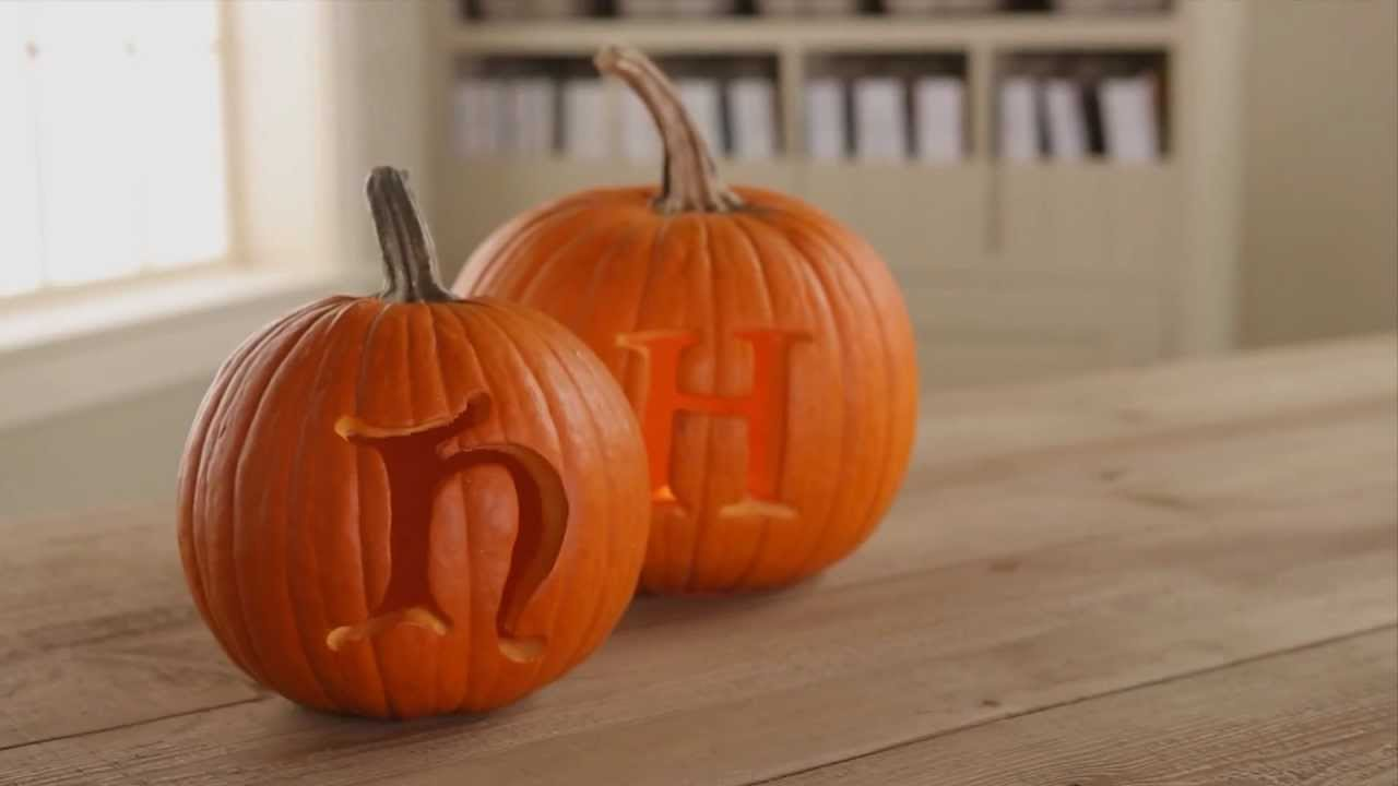 Pumpkin Carving Tips How To Carve Initials Into A