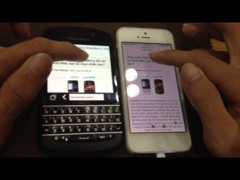 Browser Q10 vs iPhone 5 iOS 7 beta 2