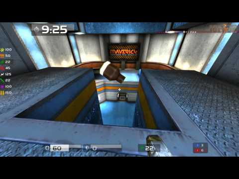 Quake Live: Kaboosh (POV) vs BarelyMissed - 1v1 CA - Campgrounds Intel