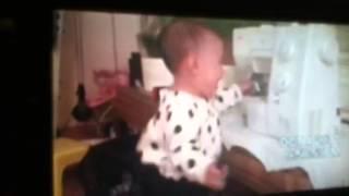 Poor baby falls