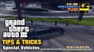 GTA 3 - Tips & Tricks - Special Vehicles