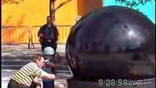 Largest Black Galaxy Granite Sphere in the World