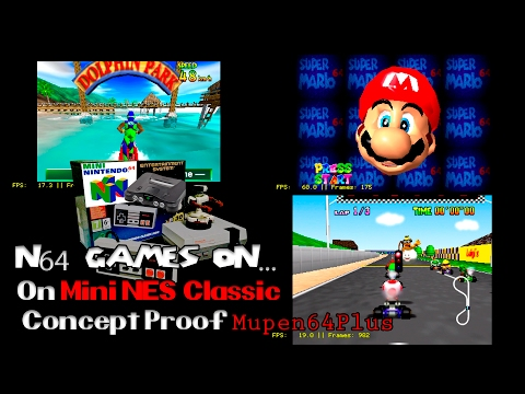 N64 Games on Mini NES From Worst to Best at minute 8:50 | Hakchi2 + RetroArch | core Mupen64plus