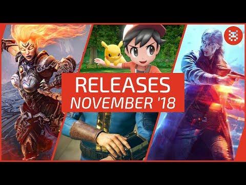 NEUE SPIELE im NOVEMBER 2018 für PS4, Xbox One, PC + Nintendo Switch