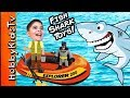 Biggest SHARK WEEK EGG! Boat Fishing For Toys Adventure + Sha...