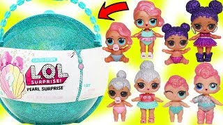 LOL Dolls Find Treasure Pearl Surprise Shell to Fizz in Water + FAKE Lil Sisters Blind Ball