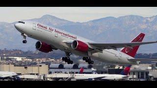Omni Air International Boeing 777-200ER Takeoff LAX