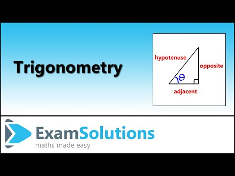 Trigonometry - Right Angled Triangles - Naming the Sides : ExamSolutions