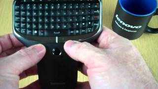 Hands On_ Lenovo Multimedia Remote w/Keyboard (N5902)