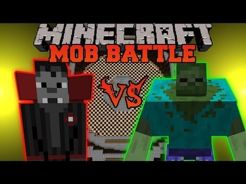 Mutant Zombie Vs. Vampire Overlord - Minecraft Mob Battles - TragicMC Mod and Mu