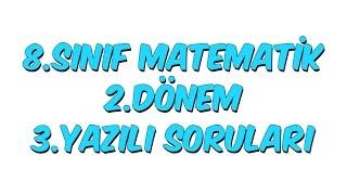 8Snf Matematik 2Dnem 3Yazl