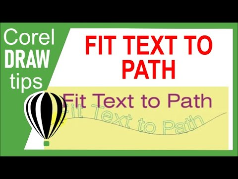 Fitting text to path in CorelDraw