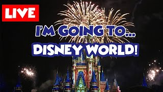 LIVE: I'm Going to DISNEY WORLD....AGAIN? || See you real soon!