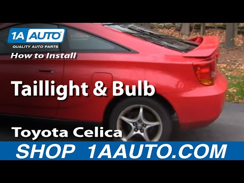 How To Install Replace Change Taillight and Bulb 2000-05 Toyota Celica
