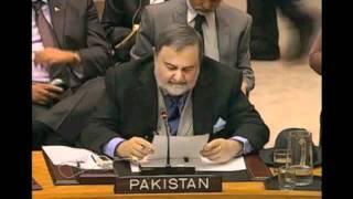 Ambassador Abdullah Hussain Haroon speaking on the situation in Syria